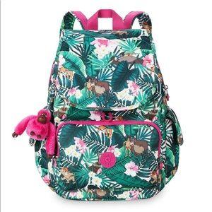 KIPLING $134 DISNEY Green Backpack JUNGLE BOOK